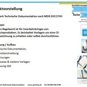 Technische Dokumentation nach EU Verordnung MDR 2017/745