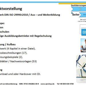 Mustervorlage DIN ISO 29990:2010 Lerndienstleistung